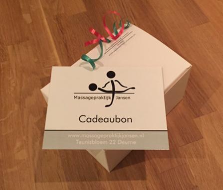 cadeaubon van Massagepraktijk Jansen